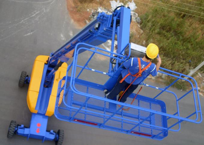 360° Continuous Turntable Aerial Work Platform ,  Articulated Boom Trailer Mounted Cherry Picker