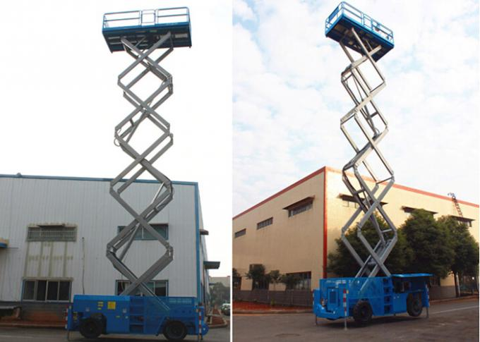 Full Electric Hydraulic Boom Lift , Self Propelled Scissor Lift 8M Platform Height 450Kg Rated Capacity