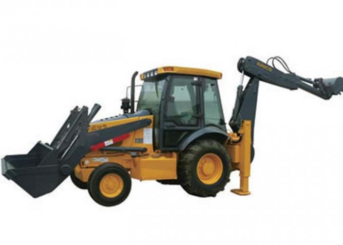 Tractor with Front End Loader and Backhoe , 70KW Power Heavy Equipment Backhoe
