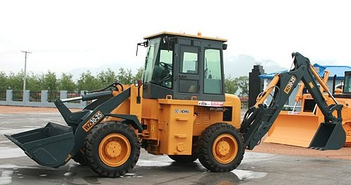 Hydraulic Steering System Muiti Function Tractor Backhoe Loader for Road Maintenance