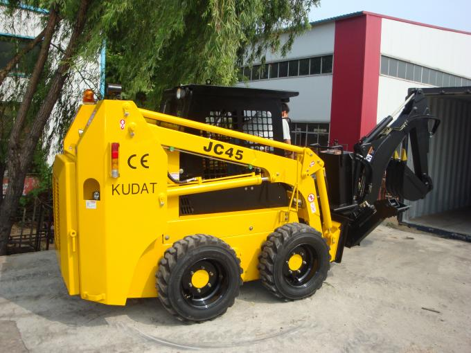Hydraulic Electric Skid Steer Loader , 20 ° Grade Ability Skid Steer Track Loader