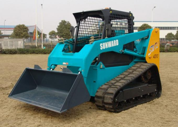 Crawler SUNWARD Skid Steer Rental with Auto Leveling System ROPS / FOPS