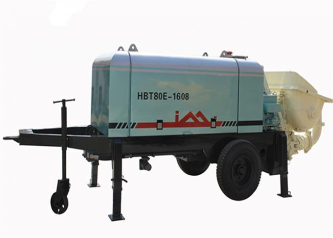 80m3/h Electric Trailer Concrete Pump For Light Weight Foamed Cement / Mortar