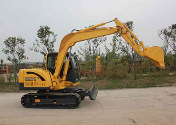 Durability SC80.8 8 Ton Excavator Rental Mounted With 0.34m3 Bucket