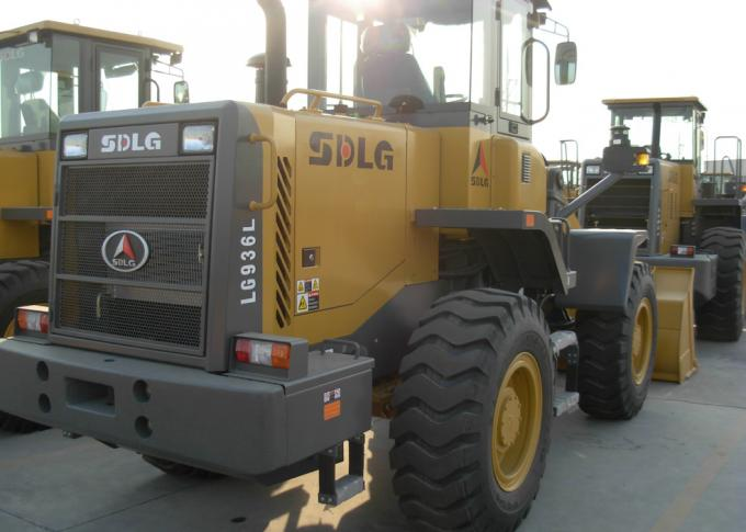 92KW Rated Power Wheel Front End Loader High Full - Load Coefficient