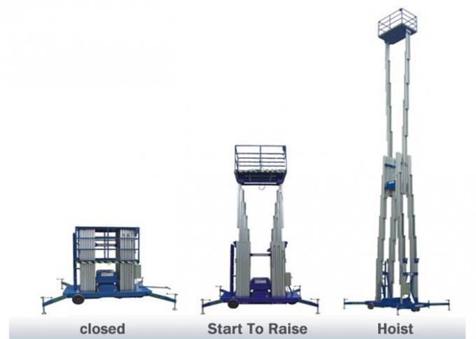 200KG 6M Lifting Height Hydraulic Boom Lift Double mast