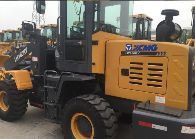 1.6T mini payloader / LW160KV XCMG front loader tractor CE certificate