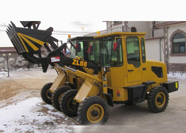 ZL08F Classic Style Garden Front End Wheel Loader Electrical starting engine